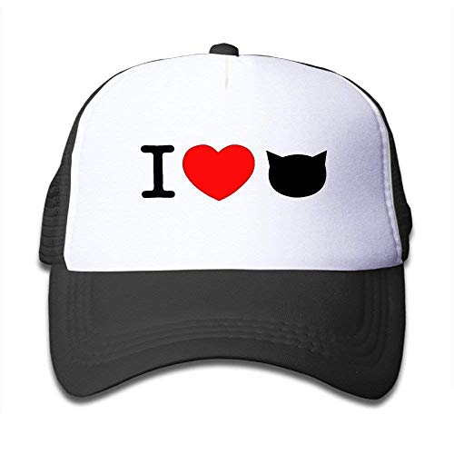 Preisvergleich Produktbild Suxinh Kids Trucker Hat I Love Cat Mesh Hats Adjustable Baseball Caps