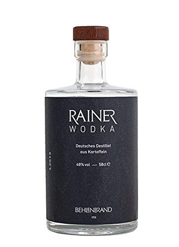 Rainer Wodka / Premium Wodka - Deutsches Destillat aus regional und biologisch angebauten Kartoffeln abgefüllt in hochwertiger Designflasche - sehr reiner, dreifach filtrierter Wodka