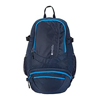 Mountain Warehouse Endeavour 20L Backpack - Hydration Compatible Rucksack, Pockets, Chest Strap, Airflow Back Bag, Raincover Daypack - For Backpacking & Daily Commute Navy