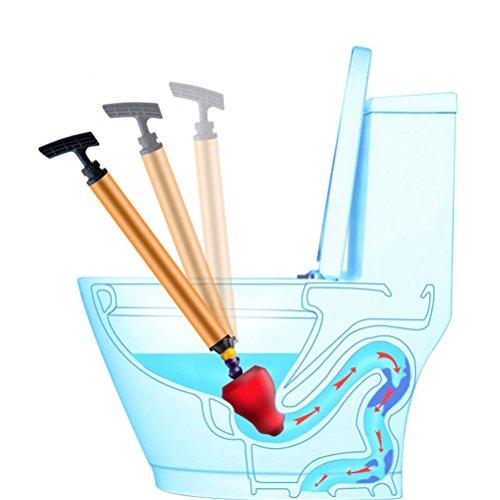 GFYWZ Toiletten-Kolben, Starke Verstopfte Druckdose-Toilette Ohne Das Wasser, Das Heraus Spritzt, Toiletten-Bagger-Rohr-Klotz-Remover-Reinigungs-Werkzeug