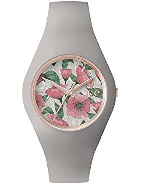 Ice-Watch Damen - Armbanduhr Ice Flower Analog Quarz Silikon ICE.FL.ROM.U.S.15