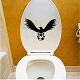 Bzqt Wall Sticker 2Pcs 21.4 * 14.5 Pallone Da Calcio Bird Sports Vinile Adesivo Da Parete Per Bagno Home Decor Toilet Decal