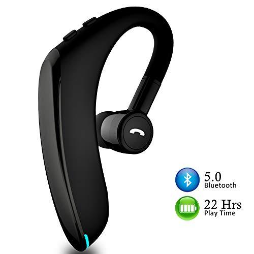 Auricular Bluetooth 5.0 Auricular Manos Libres, hasta 18-22 Horas de Tiempo de Funcionamiento para iPhone &Android, Auricular Inalámbrico con Cancelación de Ruido Durante Negocios/Oficina/Conducción