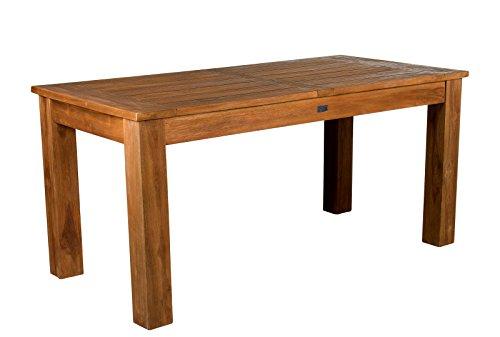 großer massiver Teakholz Esstisch Retro 160 x 80 cm Teaktisch Küchentisch Massivholz stabil
