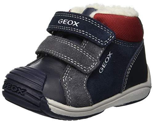 Geox Baby Jungen B Toledo Boy D Sneaker, Blau (Navy/Red C0735), 24 EU