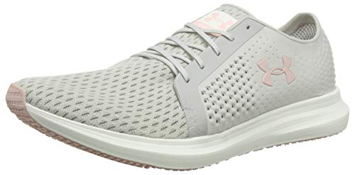 Under Armour UA W Sway, Scarpe Running Donna, Grigio (Ghost Gray/Ivory/Flushed Pink 108), 40 EU