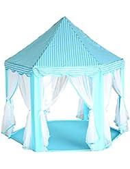LD-Tente Hexagone Princesse Tulle Tente Enfant Bébé Play House Tent Dollhouse
