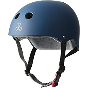 Triple 8 New York 3614 - Casco de Goma Azul Marino (Talla XL)