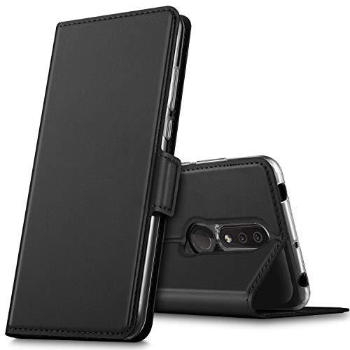 GEEMAI für Nokia 4.2 Hülle, handyhüllen Flip Hülle Wallet Stylish mit Standfunktion & Magnetisch PU Tasche Schutzhülle passt für Nokia 4.2 Smartphone, Schwarz