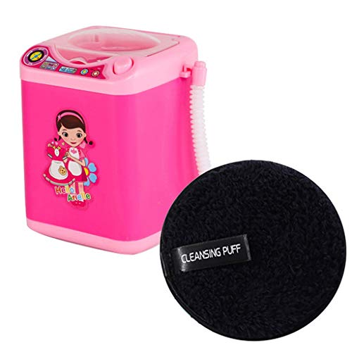 Puff Cleansing Baumwoll Waschmaschinen-Reinigungswerkzeug + Reinigungspulver Puff Clean Effektiver, Schneller Und Korrekter Make Up Remover ()