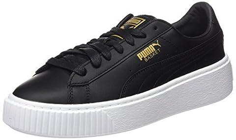 Puma Basket Platform Core, Sneakers Basses Femme, Noir (Black-Gold), 40.5 EU