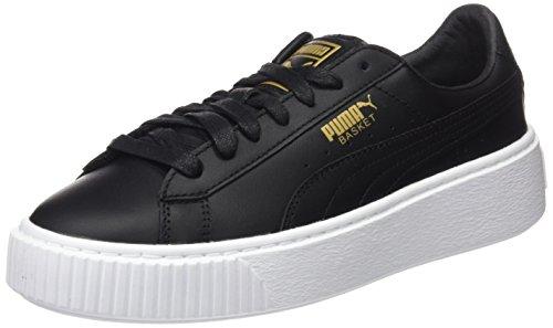 Puma Damen Basket Platform Core Sneaker, Schwarz (Black-Gold), 39 EU (Schuhe Puma)