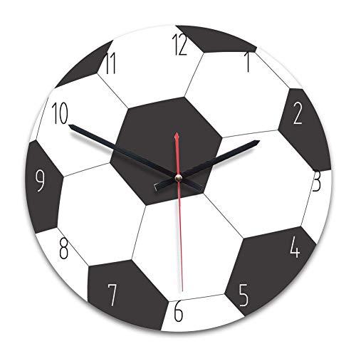 Fußballwanduhr Fußball-Wanduhr aus