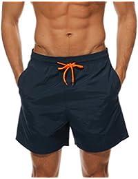 Men's Beach Shorts Quick Dry Waterproof Sports Shorts Bathing Suit Swim Trunks
