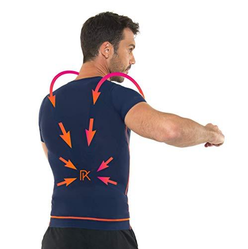 Percko - Lyne Fit Correcteur de Posture pour le Sport – T-shirt de Sport Homme - Lavable 30°- Protège et Renforce le Dos Pendant l'Effort Physique