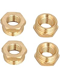 Tradico® 1/2BSP Male X 1/4BSP Female Thread Brass Hex Bushing Pipe Fitting 4pcs