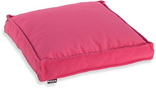 H.O.C.K. Classic Uni Outdoor Sitzkissen Stuhlkissen für drinnen und draußen aus 100% Polyacryl(dralon (40x40x5cm, pink Sun)