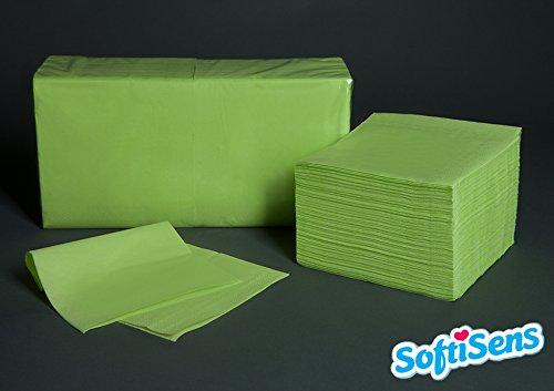 hochwertige Servietten, Maße: 33x33, 2-lagig, 1/4 Falz, Farbe: limette / kiwi (250)