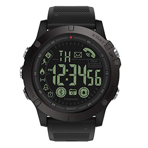 Hunpta@ Smartwatch, 2019 Fitness Armband,Wasserdicht Uhr Spätester T1-Takt Robustes Flaggschiff der Kategorie Super Tough Waterproof Smart Watch (Schwarz) (Robuste Uhr)