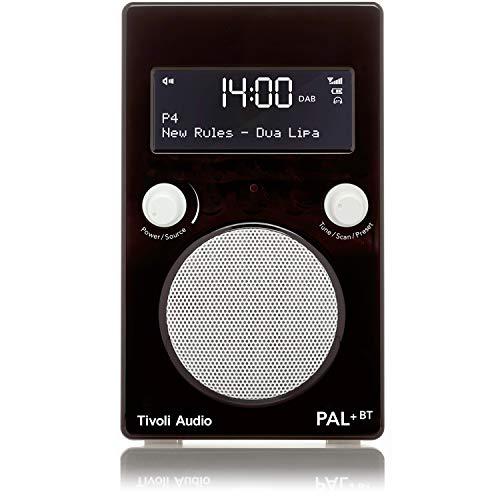Tivoli Audio Pal+ BT tragbares Radio FM/DAB+/Bluetooth, inkl. Akkupack und Fernbedienung, schwarz/weiß (Cd-radio-tivoli)