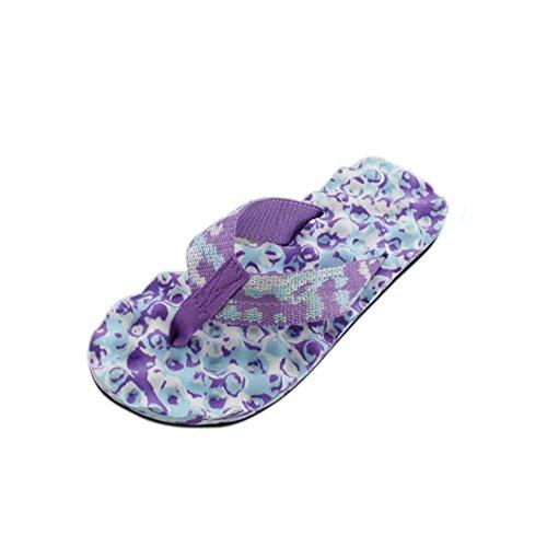 Flip flops, FEITONG Sommer Schuhe Sandalen Pantoffel im Freien Outdoor Flip-Flops Lila