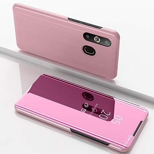 Funda® Miroir Placage Flip Coque pour Samsung Galaxy A8s/Samsung Galaxy A50/Samsung Galaxy A30/Samsung Galaxy A20 (Or Rose)