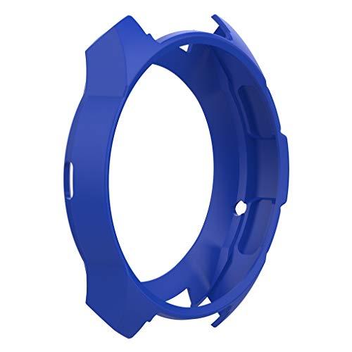 YBWZH Weiche TPU-Schutzhülle aus Silikon für Samsung Galaxy Watch 42 Flexibles TPU Ultradünner Vollschutz Stoßfänger Hülle Bruchsicher Stoßfestes Displayschutz Hülle(Blau)