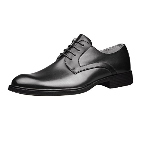 Mens Smart Dress Leather Derby Shoes Black Casual Formal Lace Up 6...