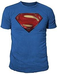 Superman - Camiseta - Logo - Básico - Cuello redondo - Hombre