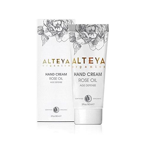 Alteya Organic Crème pour les mains Organique Anti-âge 90ml - NaTrue Certifié Organique Soin pour les Mains basé sur l'huile essentiel de Rose (Rose Otto), noruissant, hydratant et réparateur