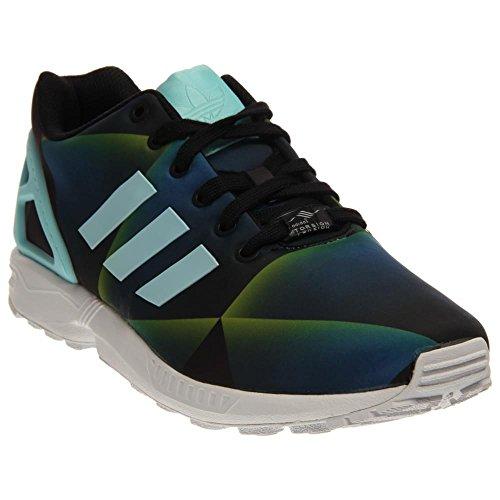 Adidas Zx Flux (9,5, Bianco / Ngtfla / Cblack) FTWWHT/CLAQUA/CBLACK