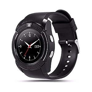 CatShin Reloj para teléfono Inteligente con Ranura para Tarjeta SIM, Reloj Bluetooth Smart Dial, Reloj con podómetro… 3