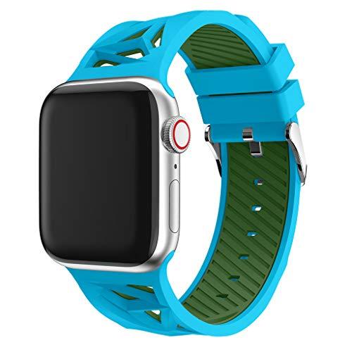 BZLine für Apple Watch Armband 38mm 40mm 42mm 44mm, Sport Weiches Silikon Armband Strap Band Ersatz Uhrenarmband für iWatch Apple Watch Series 4/3/2/1