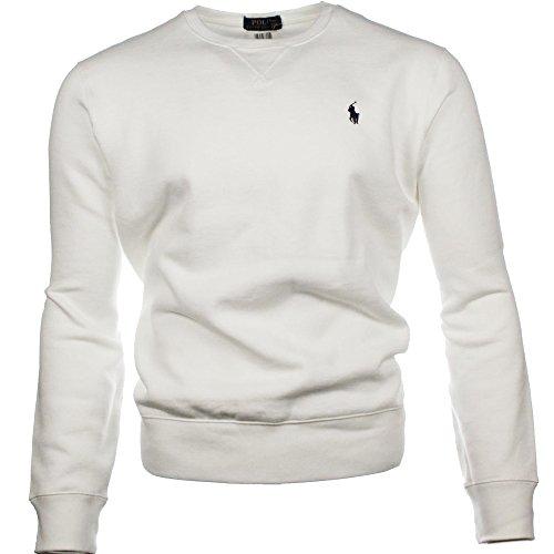 Ralph Lauren Herren Rundhals Pullover Vintage (Weiß, L) thumbnail