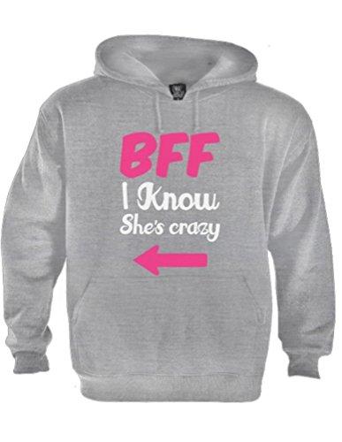 *BFF Ich weiß, sie ist verrückt Grau XX-Large Kapuzenpullover Hoodie*