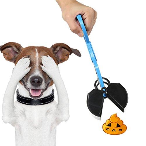 Bescita Dog Pet Pooper Scooper Poop Schaufel Sanitär Tonabnehmer Clean Pick Up Excreta Reiniger mit bequemen Griff (Blau) -
