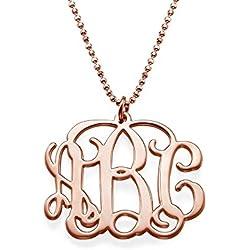 Monogramm Amulett aus 750er Roségold - Personalisiert mit bis zu drei Buchstaben!