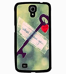 ColourCraft Love Key Design Back Case Cover for SAMSUNG GALAXY MEGA 6.3 I9200
