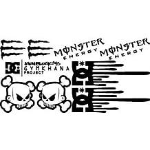 1x DC hoonigan Block Set (Color a elegir) Pegatina para moto bike Auto Volkswagen BMW Audi Monster Ninja R1R6GSX-R CBR ZX de R Duke
