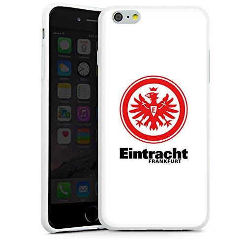 Apple iPhone SE Tasche Hülle Flip Case Eintracht Frankfurt Fanartikel Fußball Silikon Case weiß