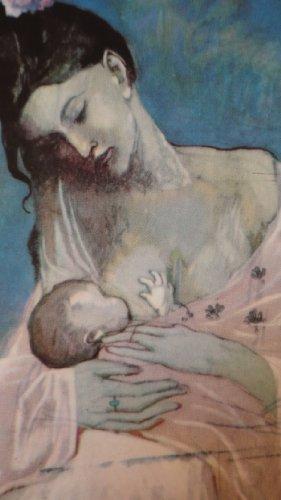 """HaWeKa Karte neutral mit Kunst-Druck """"Mutterschaft 1905"""" von Picasso Nr. 228"""
