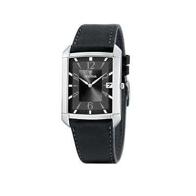FESTINA F6748/3 - Reloj de caballero de cuarzo, correa de piel color negro de FESTINA