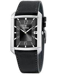 FESTINA F6748/3 - Reloj de caballero de cuarzo, correa de piel color negro