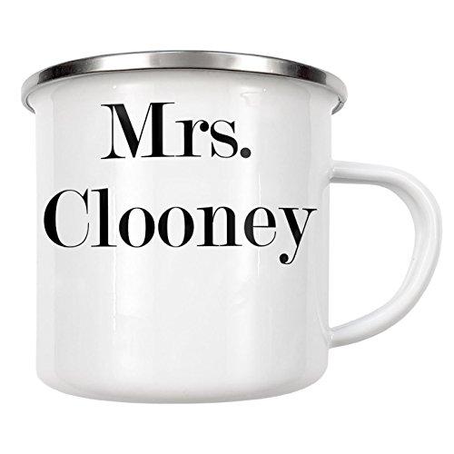 """artboxONE Emaille Tasse \""""Mrs. Clooney\"""" von Dunja Krefft - Emaille Becher Film"""