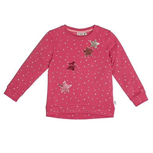 SALT AND PEPPER Mädchen Daydream Sternchen-Allover Wendepailletten Sweatshirt, Rosa (Rosewood Melange 849), 104 (Herstellergröße: 104/110)