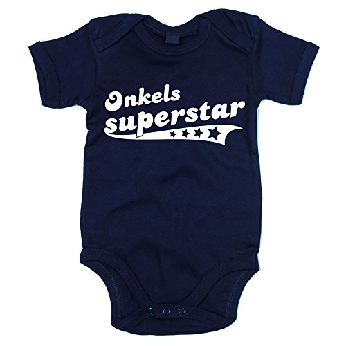 Baby Body - Onkels Superstar - von SHIRT DEPARTMENT, dunkelblau-weiss, 62-68