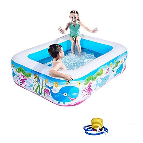 CQyg Blauer Rechteckiger Pool, PVC-Planschbecken, Large Space Marine Ball Pool, Kind Baby Bubble Ball Pool Household Thicken Aquarium Pool (größe : 120 * 90 * 33CM)