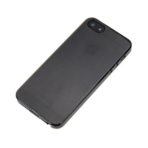 doupi Crystal AllClear - Reloaded - Coque de protection pour Apple iPhone 5 5S iPhone SE Etui Nouveau design 2. génération Case Bumper Cover transparent rose Transparent-Noir