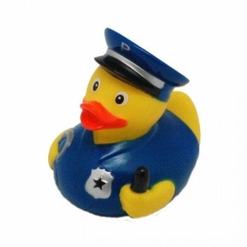 DUCKSHOP   Badeente Polizei   Quietscheente   L: 7,5 cm - 2