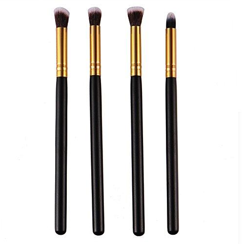 ZZM 4 pcs Blush Brosse Kabuki Style professionnel du visage Contour Estompeur Cosmétique Maquillage Poudre Fard à paupières Brosse